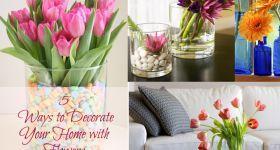 Çiçekli Evini Dekore 5 Yolları