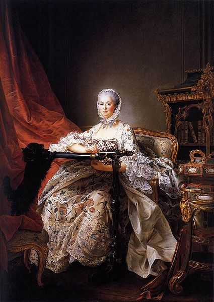 Madame de Pompadour. Final portrait begun just days before death, finished after it (by Francois Hubert Drouais) In 1764, at the age of 42, she dies in Versailles of either lung cancer or tuberculosis.