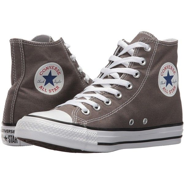 6269d4657ab1 Converse Chuck Taylor(r) All Star(r) Core Hi (Charcoal) Classic Shoes  (1.253.505 VND) ❤ liked on Polyvore featuring shoes