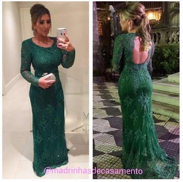 Madrinhas de casamento: 12 Vestidos de festa verde