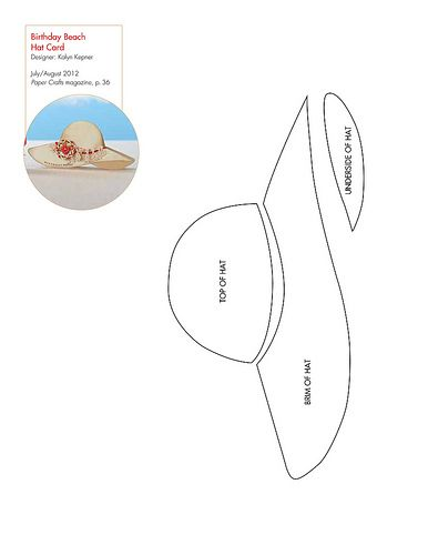 Modelo para el cumpleaños de la playa Tarjeta de Sombrero