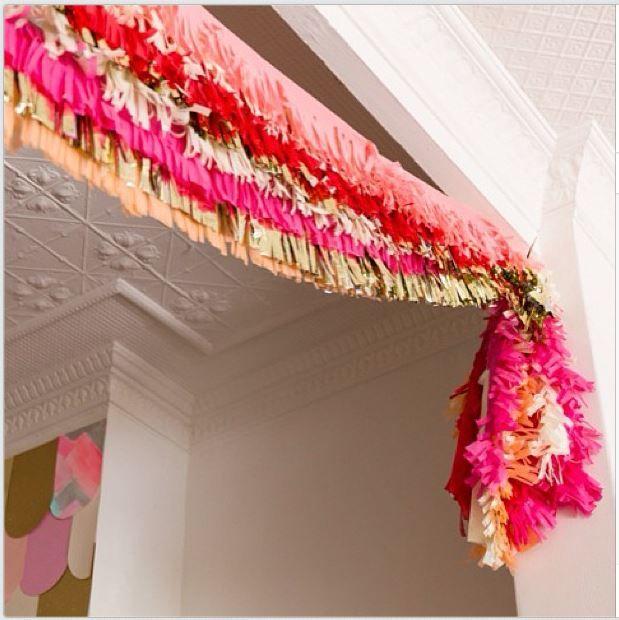 fringe banner // party decor #diy