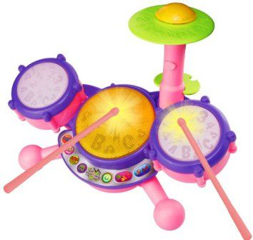 VTech KidiBeats Drum Set - Pink - Online Exclusive  The best gifts for toddlers are ones they will actually play with.  It is also important they're entertaining, fun and educational.   This is a great gift idea for a toddler because it inspires creatives and cultivates hours of play and use of imagination.  These are great Christmas and birthday gifts for little boys and girls.