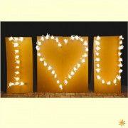 """Lichterbilder-Set """" I ♥ U"""" Ich Liebe Dich - Hochzeit"""