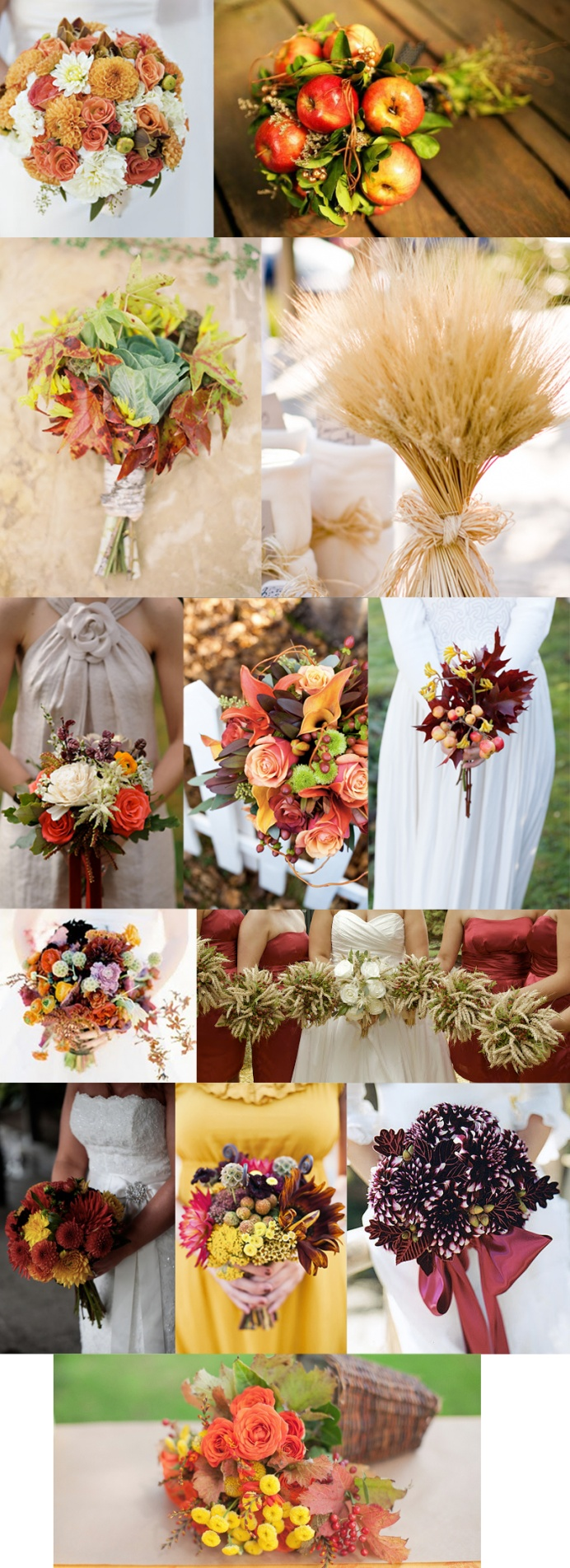 Flowers And Bouquets For Your Fall Wedding, Hay Straw, Wheat, Leaves