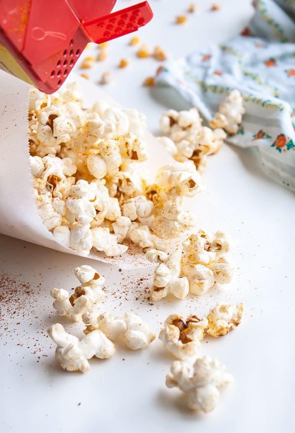 Old Bay Stove-Top Popcorn | @blogoverthyme