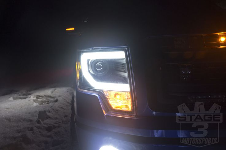 Stage 3's 2013 F150 5.0L STX Project Truck Lighting Images