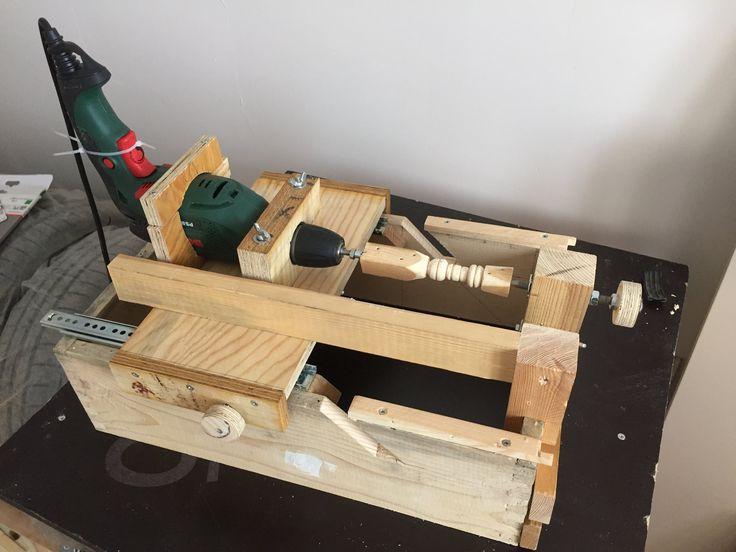 All in one. Mini lathe, disc sander and drill press. - 1 makina 3 fonksiyon bir arada; Sütun matkap, mini torna ve disk zımpara.