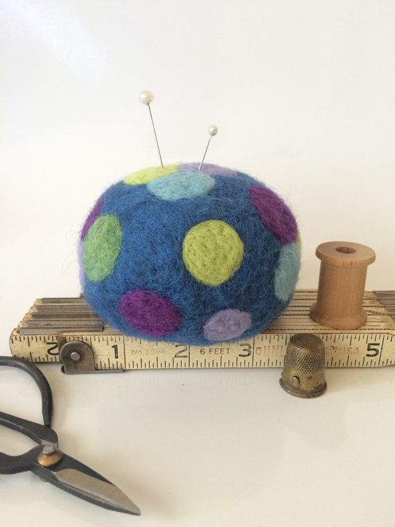 Ultimate Wool Felted Pin Cushion for Quilters by WoolyDoodles4u