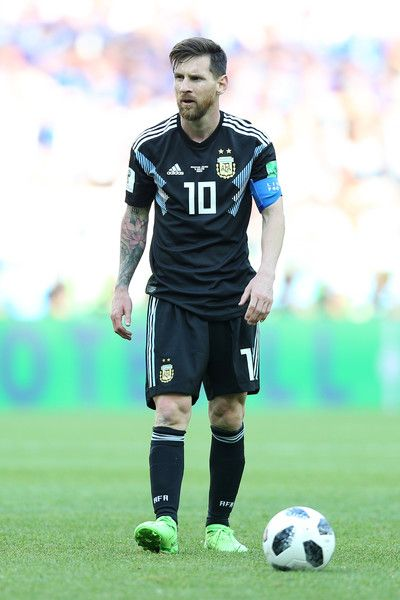 Lionel Messi during the 2018 FIFA World Cup Russia group D match between  Argentina and Iceland 2018 FIFA World Cup Russia c0d7921439a90