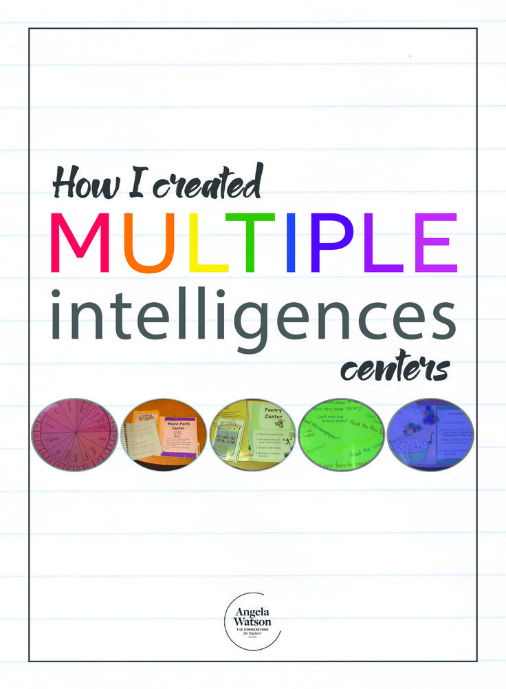 This page provides resources to help you integrate Howard Gardner's multiple intelligences theory into your regular classroom practices. You'll find photos of multiple intelligences centers I created and links to other web resources for MI surveys, songs, games, and more. How I created multiple intelligences centers One year, I based my centers on Howard Gardner's …