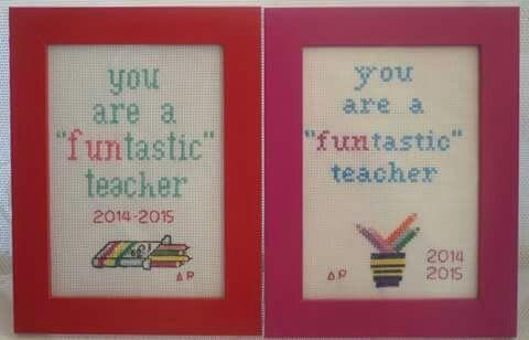 Χειροποίητα καδράκια για τους δασκάλους!