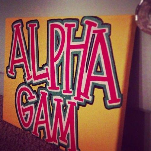 alpha gam// alpha gamma delta sorority canvas painting by gloriouslyruined on Etsy