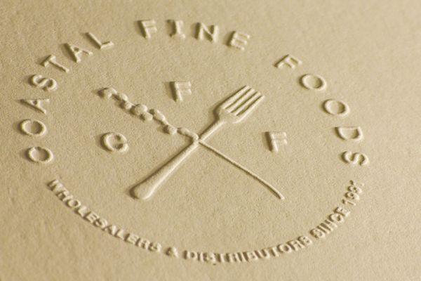 Oliver Brambley: Fine Food, Cards Design, Business Cards, Embossing Logos, Logos Inspiration, Letters Press, Blinds Embossing, Food Logos, Branding Logos