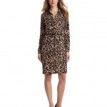 Anne Klein Women's Leo Animal-Print Belted Dress