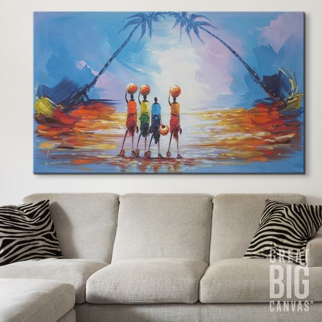 Water Fetchers II. Eclectic Living RoomLiving Room ArtPhoto CanvasAfrican  American ArtFramed ...