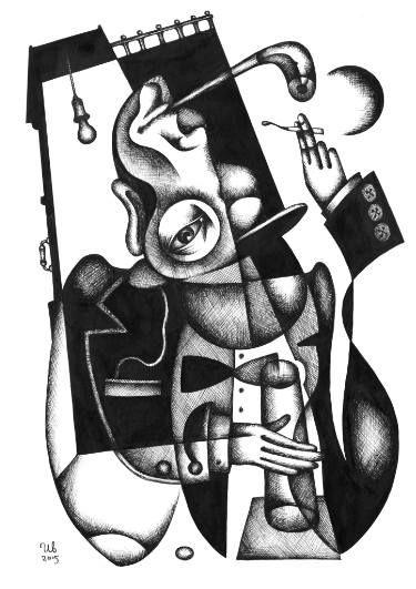 A Night by #eugeneivanov, 29 X 41 cm, $299.  #@eugene_1_ivanov #modern #original #ink #painting #hipster #sale #art_for_sale #original_art_for_sale #modern_art_for_sale #ink_drawing_for_sale #art_for_sale_artworks #art_for_sale_ink #art_for_sale_artist #art_for_sale_eugene_ivanov