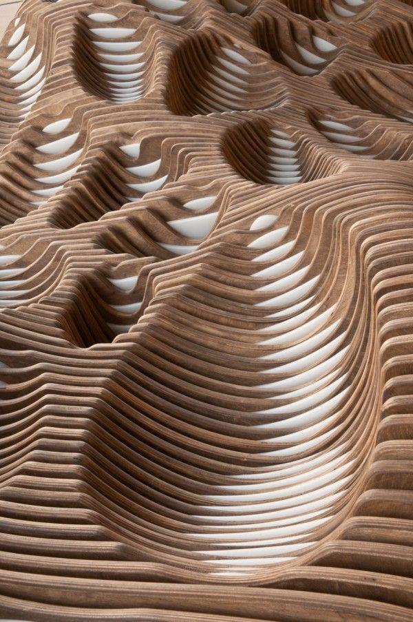 parametric sculpture at Washington University of Architecture