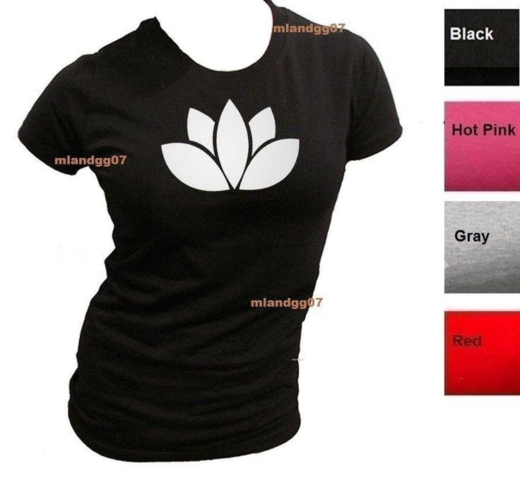 Junior Sizes T-Shirt Lotus Flower Meditation Buddhism Yoga  Size S-Xl