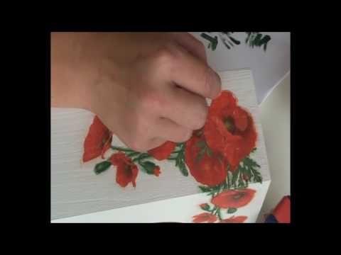 jak ozdabiać w technice decoupage krok po kroku tutorial instrukcja - YouTube