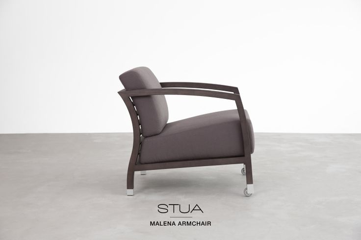 STUA Malena armchair now takes the monochrome option where frame and upholstery seem to merge.