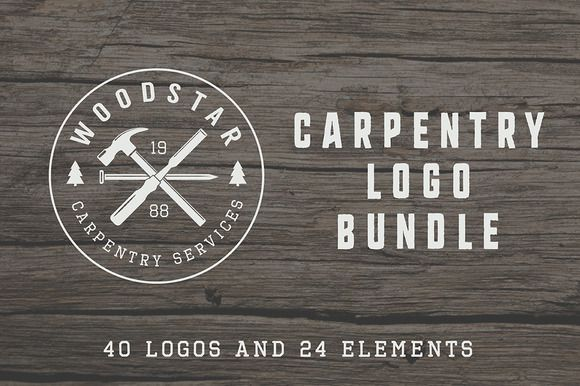 Posted by @newkoko2020 Set of vintage carpentry logos  by AkimD on @creativemarket