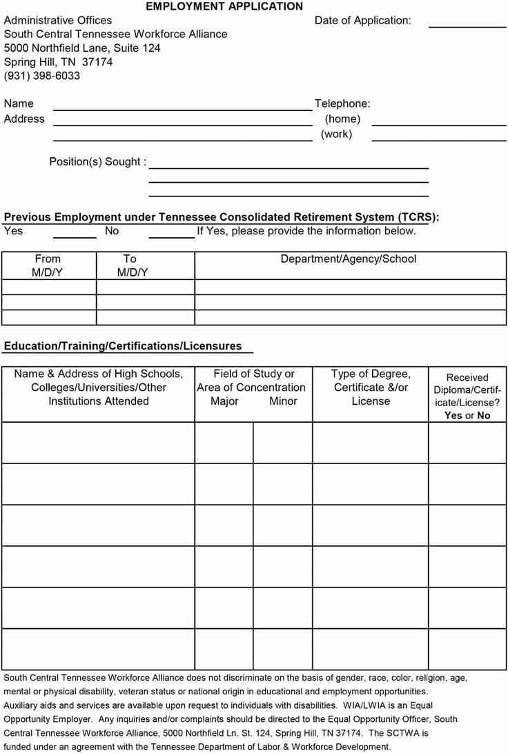 Free Employment Application Form Download Best Of 50 Free Employment Job Application Form Template Job Application Form Employment Application Application Form Free printable job application template
