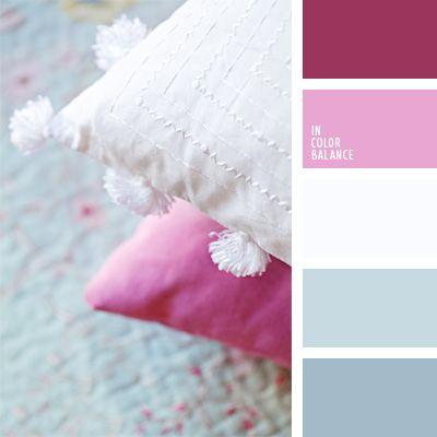 azul aciano pálido, blanco, celeste, celeste pálido, celeste pastel, color lila, colores para la decoración, elección del color, lila sonrosado, paletas de colores para decoración, paletas para un diseñador, rosa pastel.