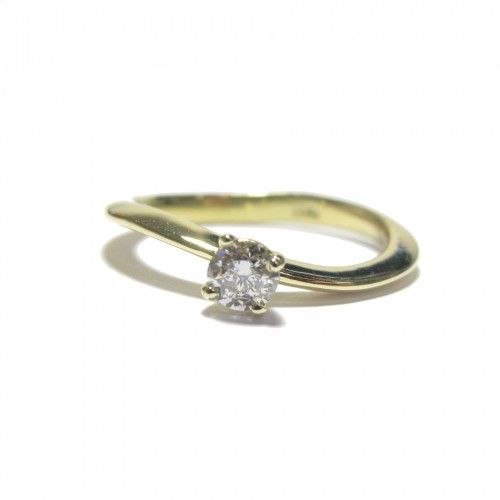 0.25ct Solitaire Diamond Ring in 18ct yellow gold. $2247 NZD