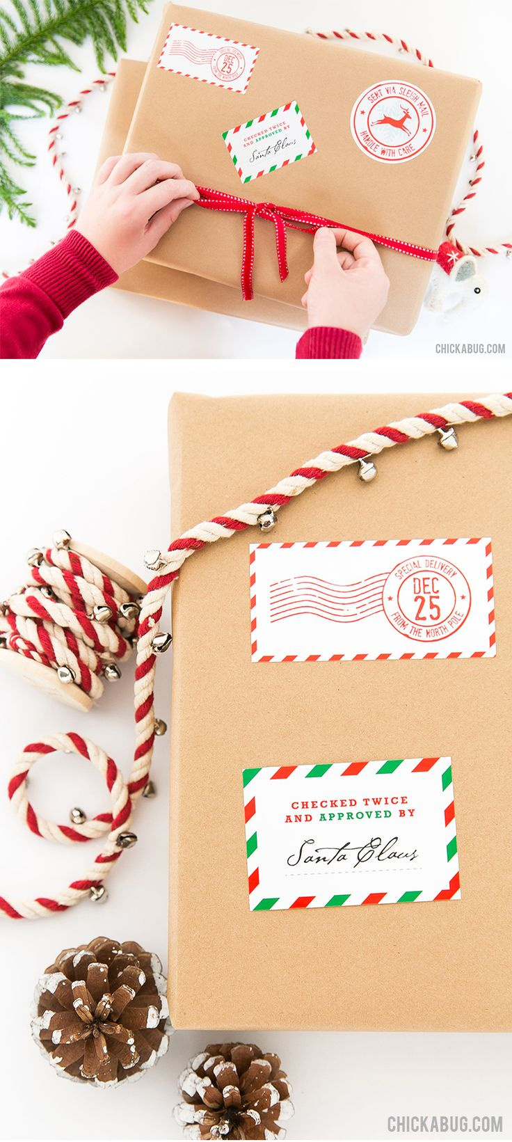 Make Christmas gift wrapping MAGICAL! These adorable stickers are the perfect finishing touch for your Christmas presents, to make them look like they came straight from Santa's workshop!