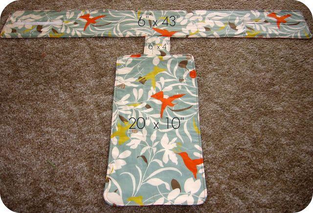 homemade by jill: fabric travel high chair