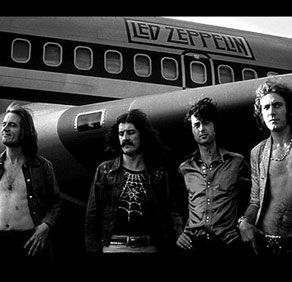 The boys travelled in style..the Starship. Zep had their own airplane for their tours.