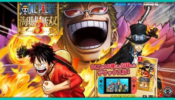 One Piece  Nakamas izad las velas! Bandai Namco ha revelado por sorpresa que One Piece Pirate Warriors 3 la nueva entrega del musou que se estrenó en PS3 PS4 PS Vita y Steam el pasado año 2015 llegará en una versión Deluxe a Nintendo Switch cargado de contenidos. Se ha confirmado su lanzamiento en formato físico en Japón para el día 21 de diciembre a 5.800 yenes (aproximadamente unos 43).  Esta versión incluirá 42 materiales repartidos en skins y capítulos del modo Desafíos. Pasando a…