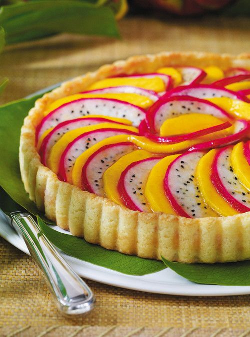 Mango and Pitahaya Fruit Tart Recipes | Ricardo
