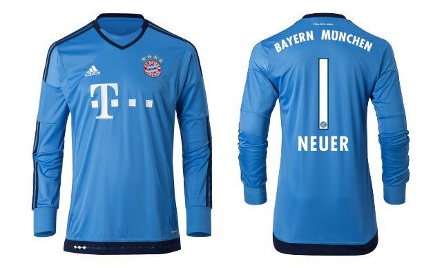 Camisas do Bayern de Munique 2015-2016 Adidas Goleiro Neuer