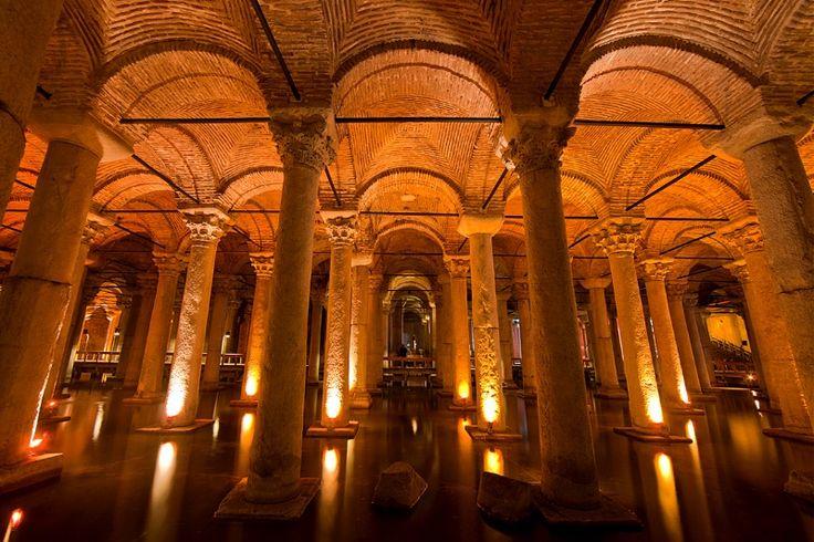 Basilica Cistern, from the Byzantine Empire, Istanbul, Turkey