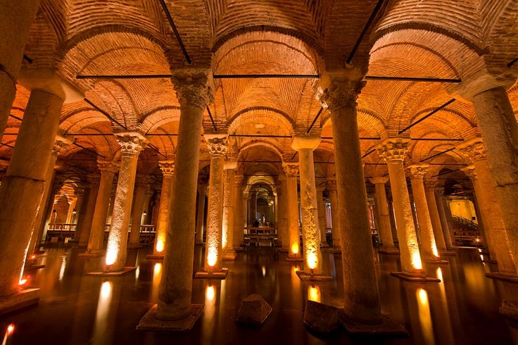 Basilica Cistern, from the Byzantine Empire, Istanbul, Turkey