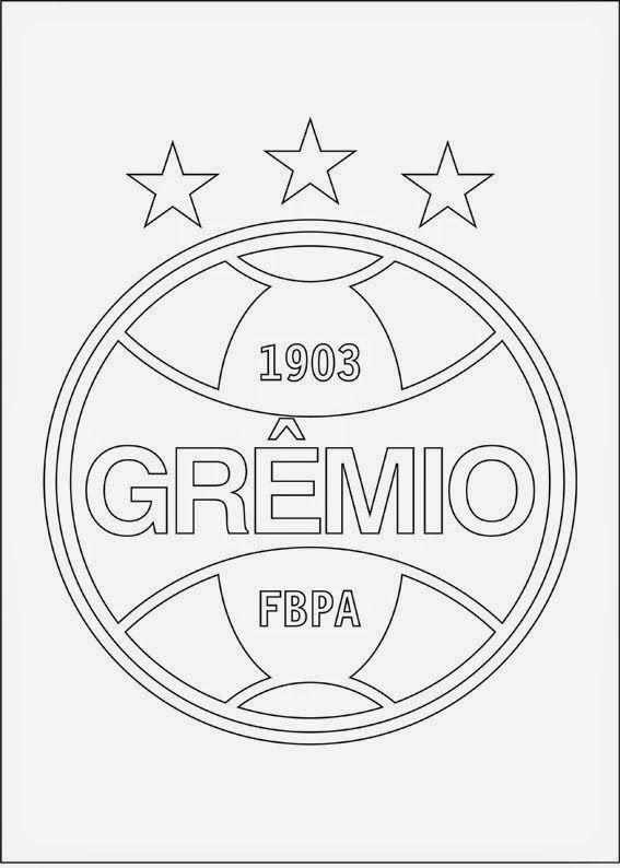Desenhos Para Colorir Grêmio Futebol Clube Grêmio Futebol