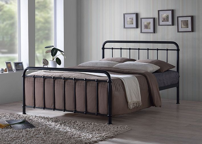 Tesco direct: Miami Black Traditional Hospital Style 3FT Single Metal Bed Frame