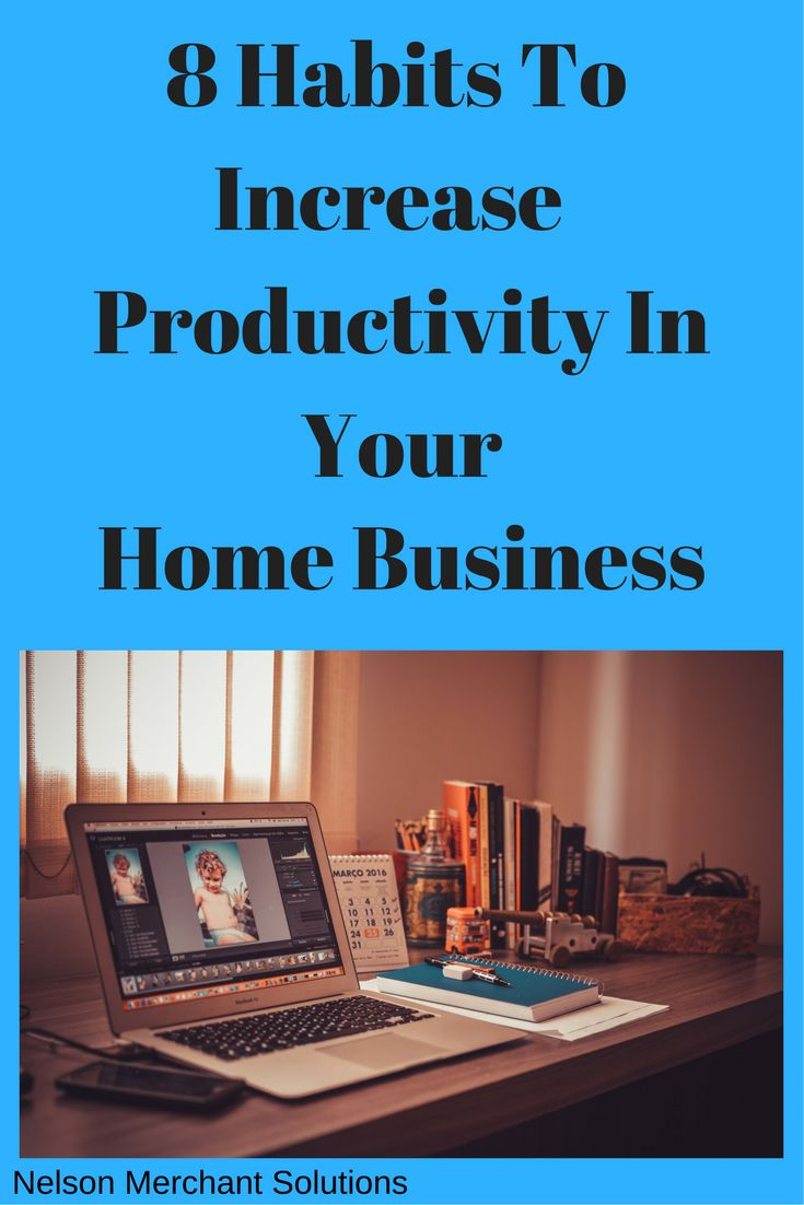 Home Businesses can have many distractions. Here are some tips to help keep you productive.