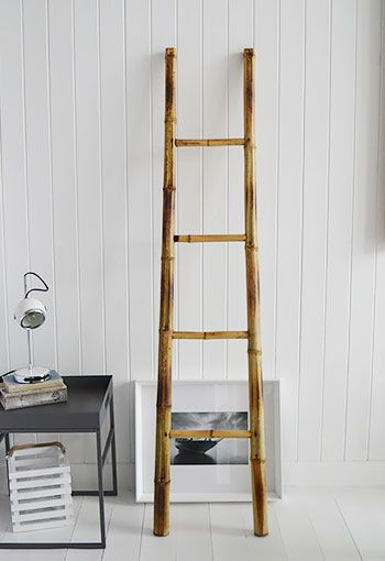Bamboo ladder for towels, clothes and throws... Bedroom, Bedroom, Kitchen, Living Room