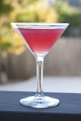 Cranberry Martini --- my absolute FAVORITE drink of all time. citrus vodka, triple sec, sweet and sour, cranberry juice. from A Year of Cocktails