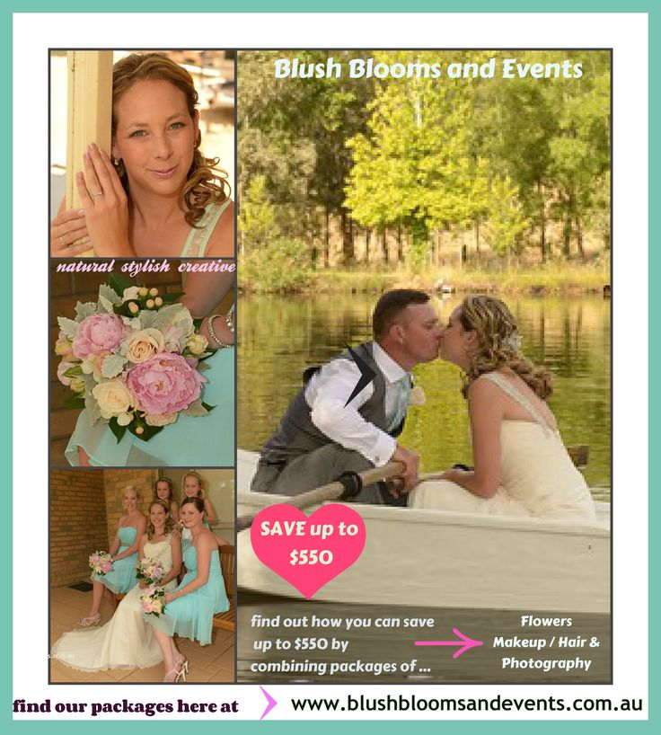 Save up to $550 by combining wedding packages here at www.blushbloomsandevents.com.au