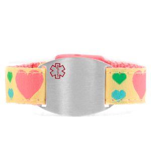 Hearts Medical Sport Band Bracelet 4 - 8 Inch