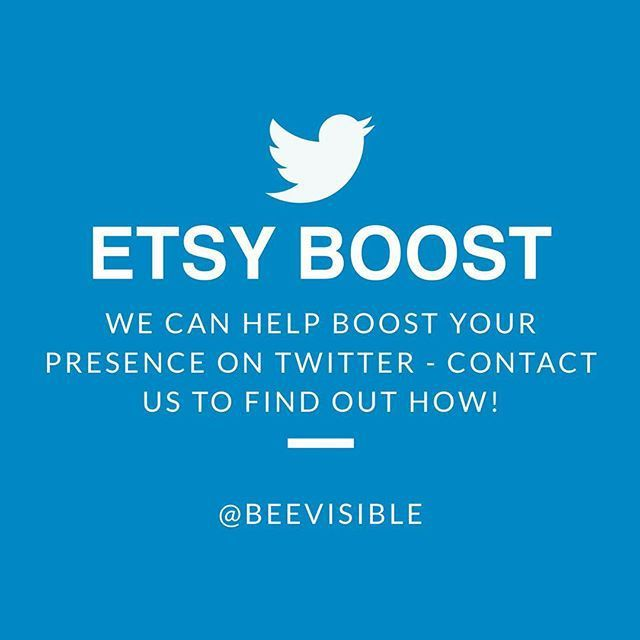 We can help promote your online shop on Twitter with our Etsy Boost! For just £30, you will get 30 days of Twitter promotion! Contact us to find out more :)