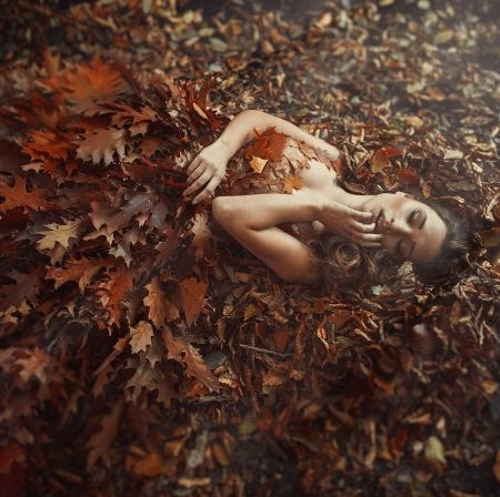 Autumn Beauty - beauty, autumn, model, lady