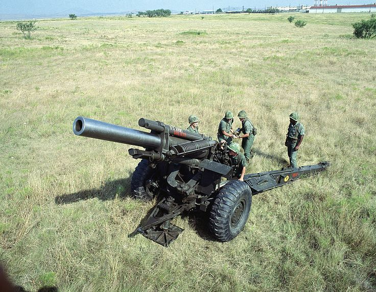 The M114 155 mm howitzer was a towed howitzer used by the United States Army. It was first produced in 1942 as a medium artillery piece under the designation of 155 mm Howitzer M1. It saw service with the US Army during World War II, the Korean War, and the Vietnam War, before being replaced by the M198 howitzer.