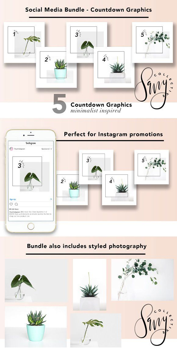 Social Media Bundle - Countdown by Savvy Collective Creative on @creativemarket