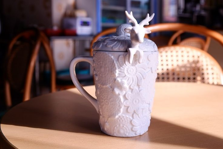 Купить Ремесла белый лося кружка кружево пряжа керамика рельеф кофе чаша вапити стиль кружка керамика кружка + ложка барельеф лаконичный чашаи другие товары категории Кружкив магазине stars M's storeнаAliExpress. ложки счетчик и блёсна