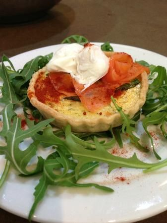 Tasty Smoked trout tartlette and a nice review to go with it - @Food at 52 Cookery School